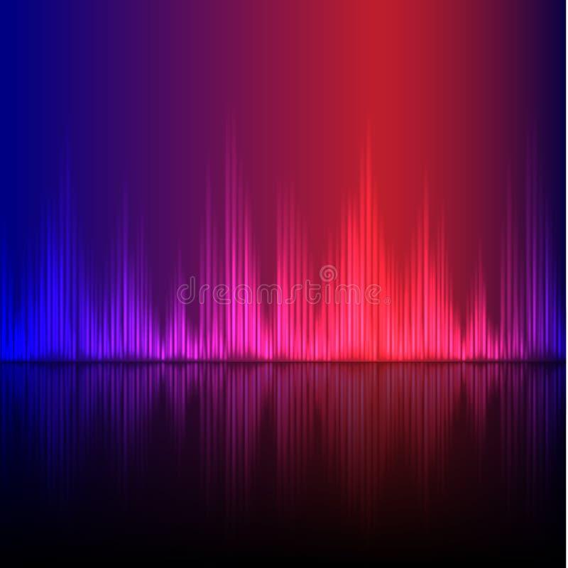 Abstract equalizer background. Blue-Purple wave. vector illustration