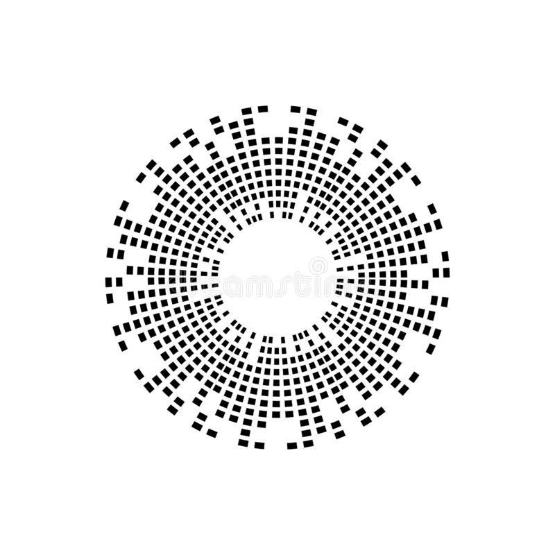 Abstract equalizer music sound wave circle vector icon symbol. logo design, round line icon, circle item, elements background, royalty free illustration