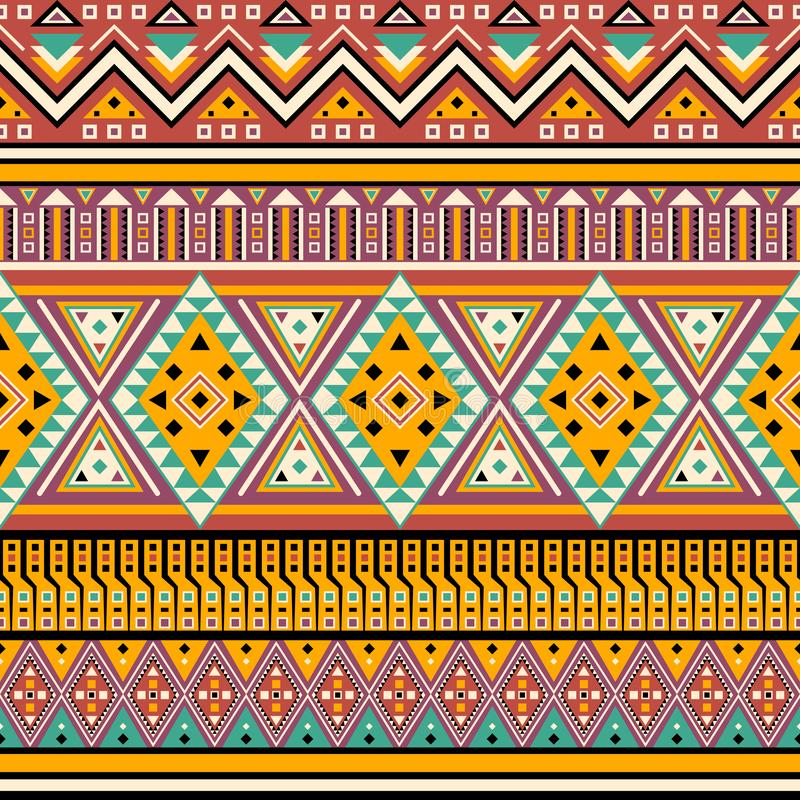 Abstract ethic style tribal seamless pattern. Design stock illustration