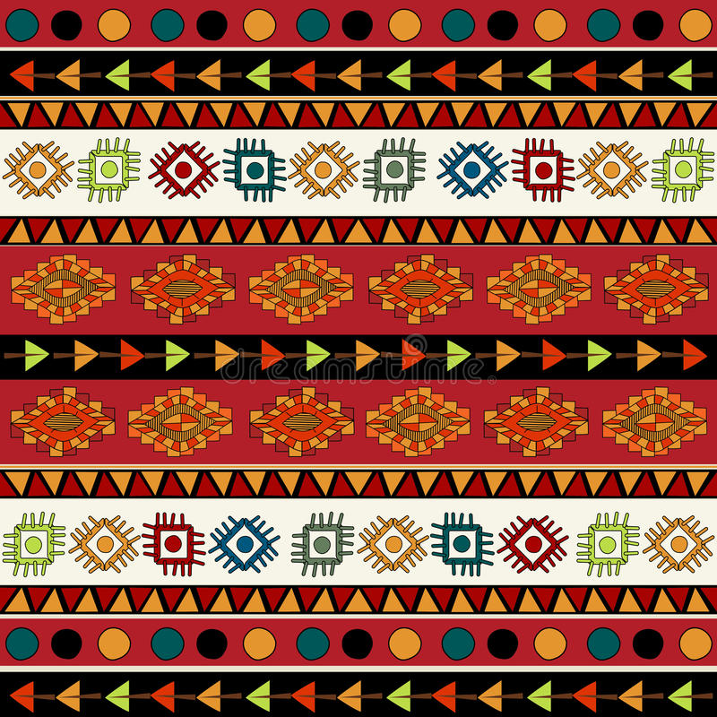 Download Abstract Ethnic Pattern In Vivid Colors. Stock Illustration - Image: 38769135