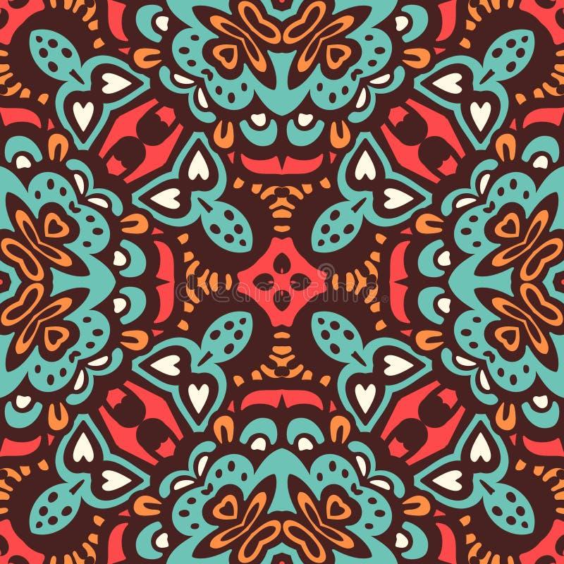 Abstract ethnic seamless pattern ornamental. stock illustration