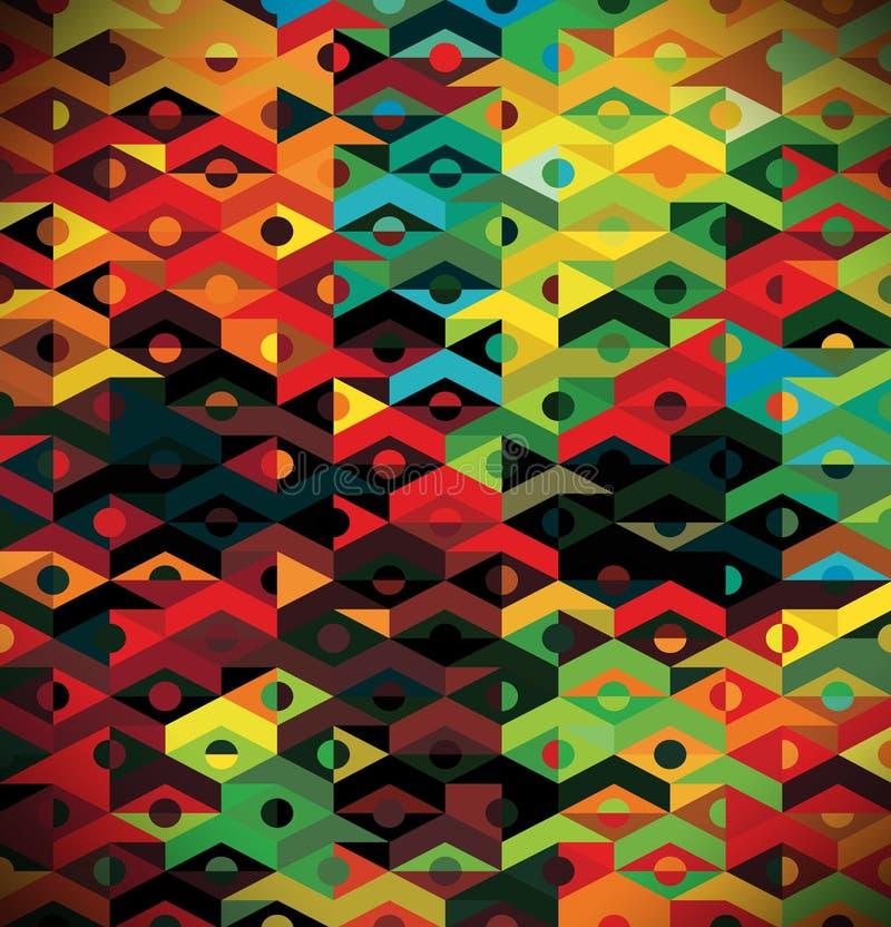 Abstract Etnisch Geometrisch Patroon - achtergrond stock illustratie