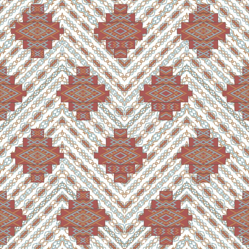 Abstract etnisch geometrisch patroon, stammentapijt, naadloze vectorillustratie vector illustratie