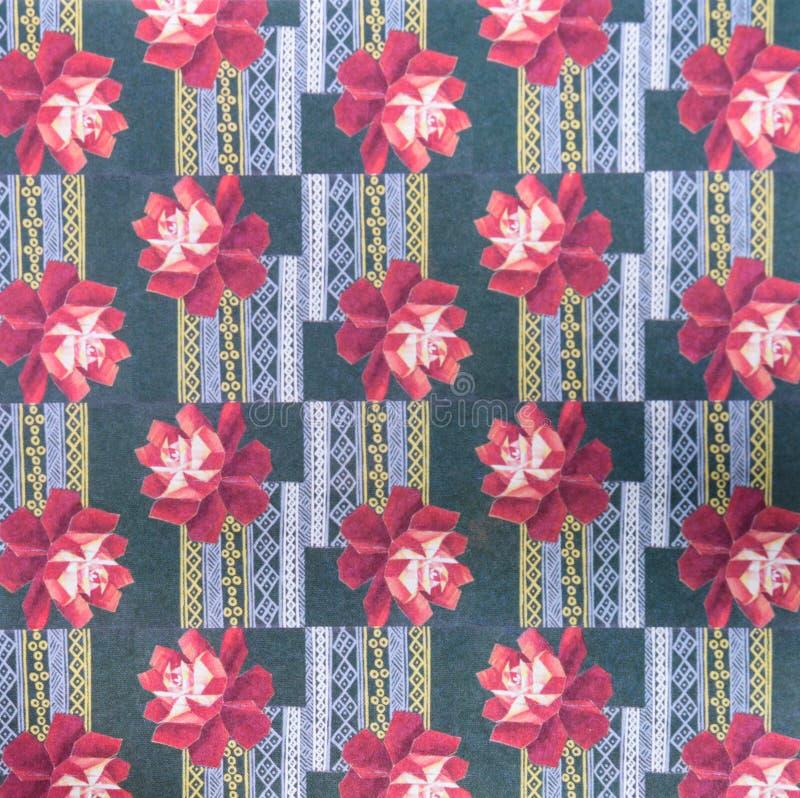 Abstract etnisch naadloos patroon De stammendruk van kunstboho stock afbeeldingen