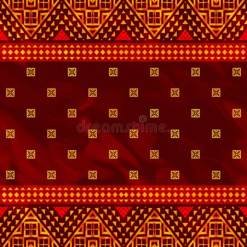 Abstract etnisch patroon stock illustratie