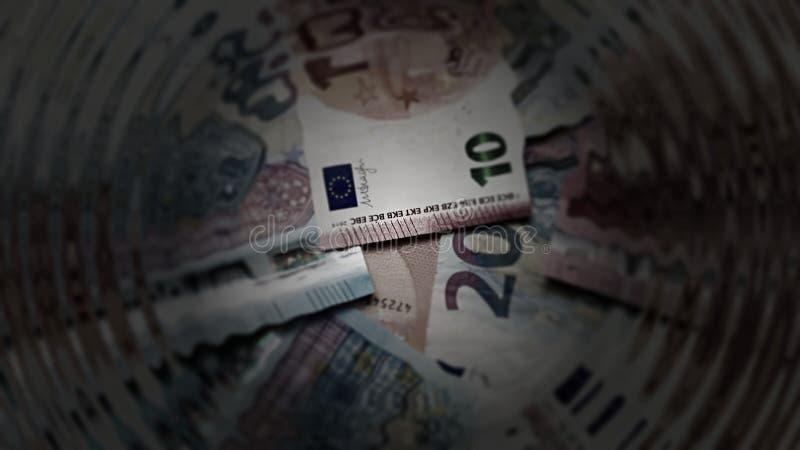 Abstract Euro Notes Money Cash Art stock photo