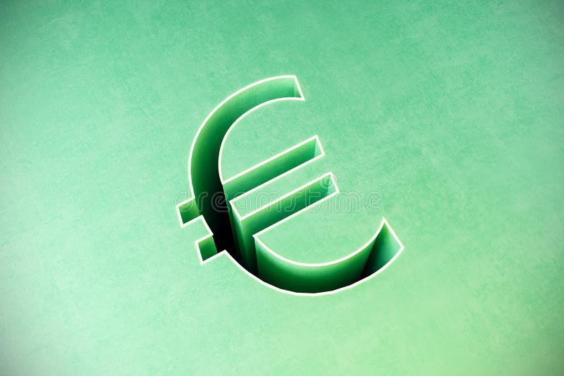 Abstract euro sign royalty free illustration