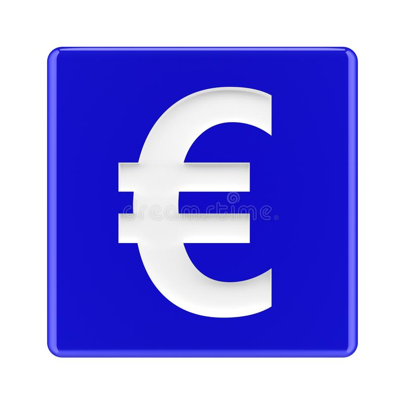 Abstract euro symbol for financial sector - Illustration stock illustration