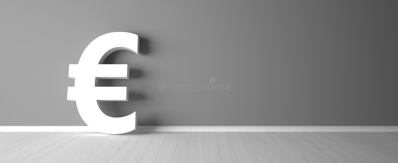 Abstract euro symbol for financial sector - Illustration vector illustration