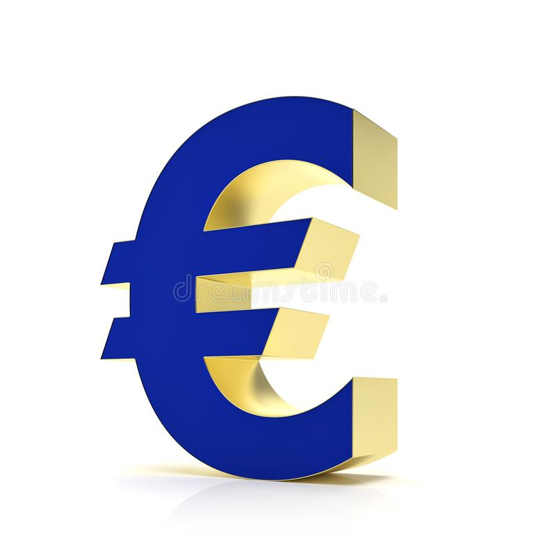 Abstract euro symbol for financial sector - Illustration vector illustration