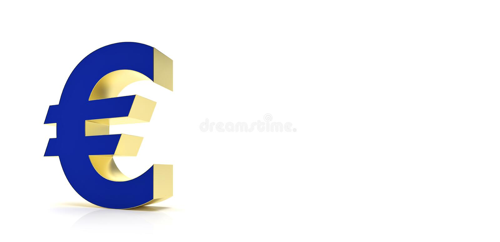 Abstract euro symbol for financial sector - Illustration royalty free illustration