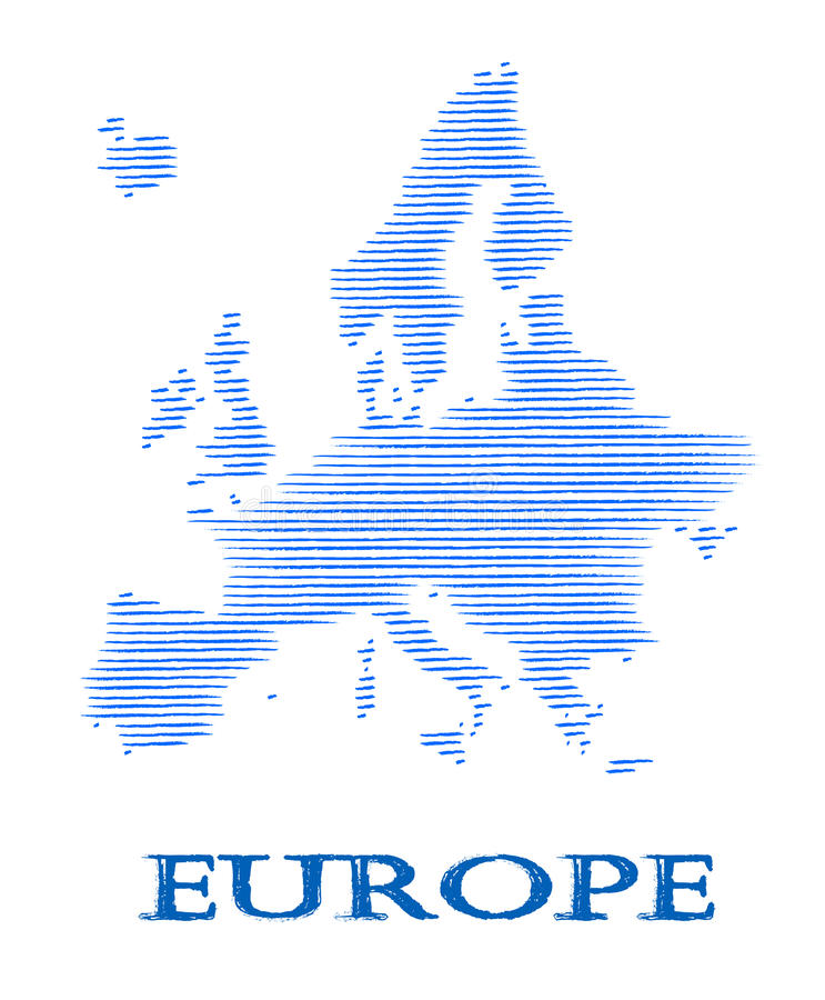 Abstract Europe silhouette. vector illustration