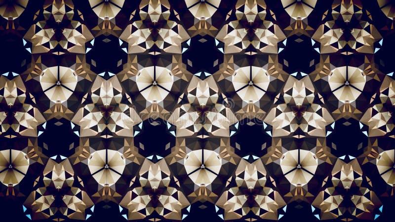 Abstract exclusive premium golden gold green black polygon wallpaper stock photo