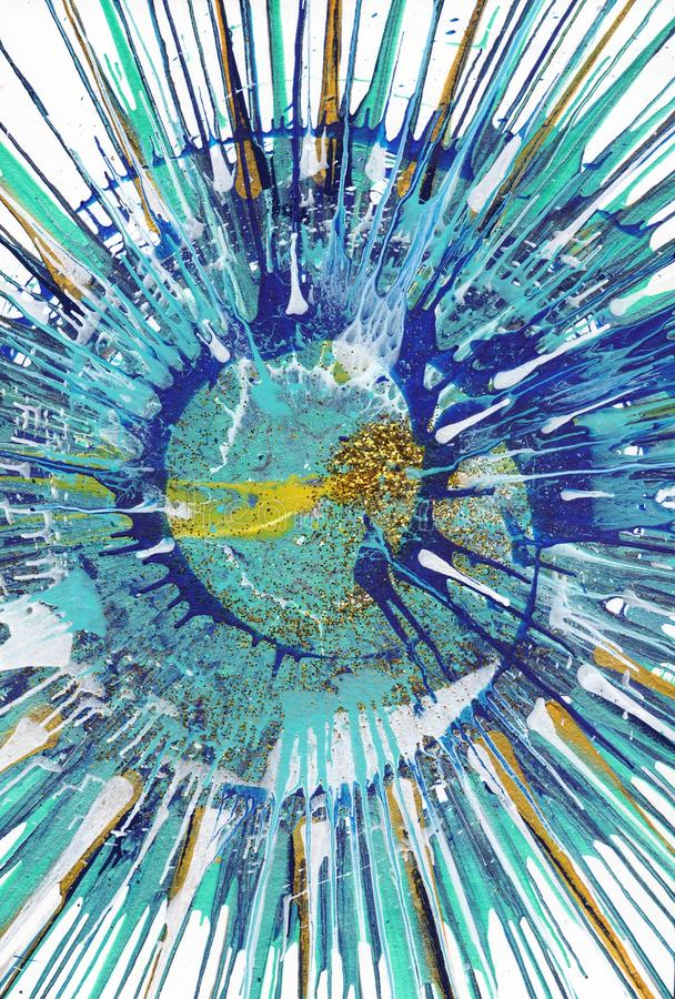 Abstract expressionism painting - Gold Fish vector illustration