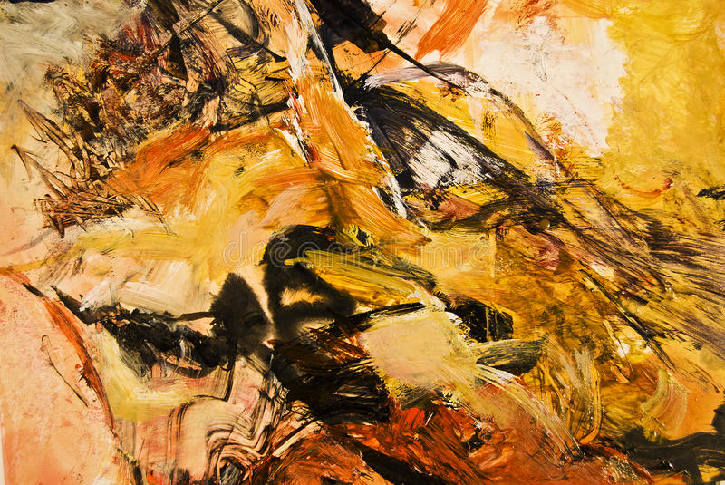 Abstract expressionist acrylic painting stock image