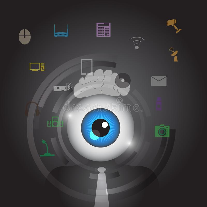 Abstract eye business icon. Is a general illustration stock illustration
