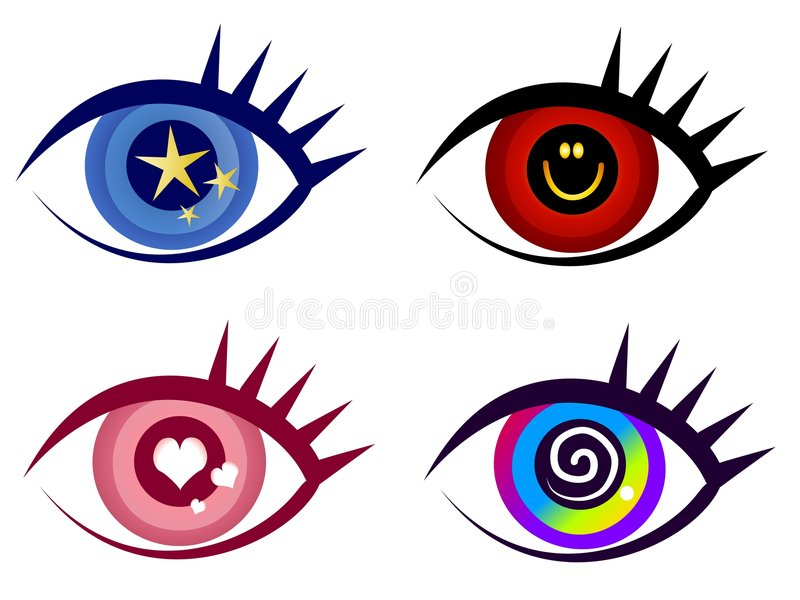 Download Abstract Eye Clip Art Icons Stock Illustration - Illustration of happy, icons: 3378912