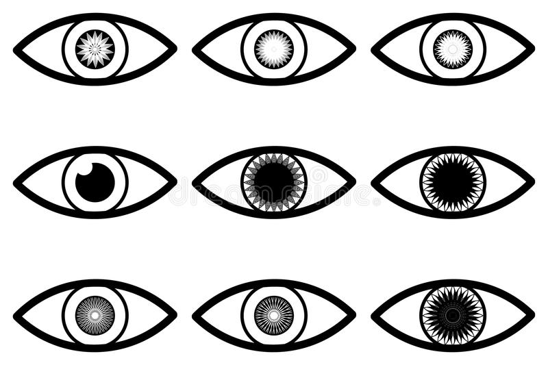 Abstract eye icon royalty free illustration