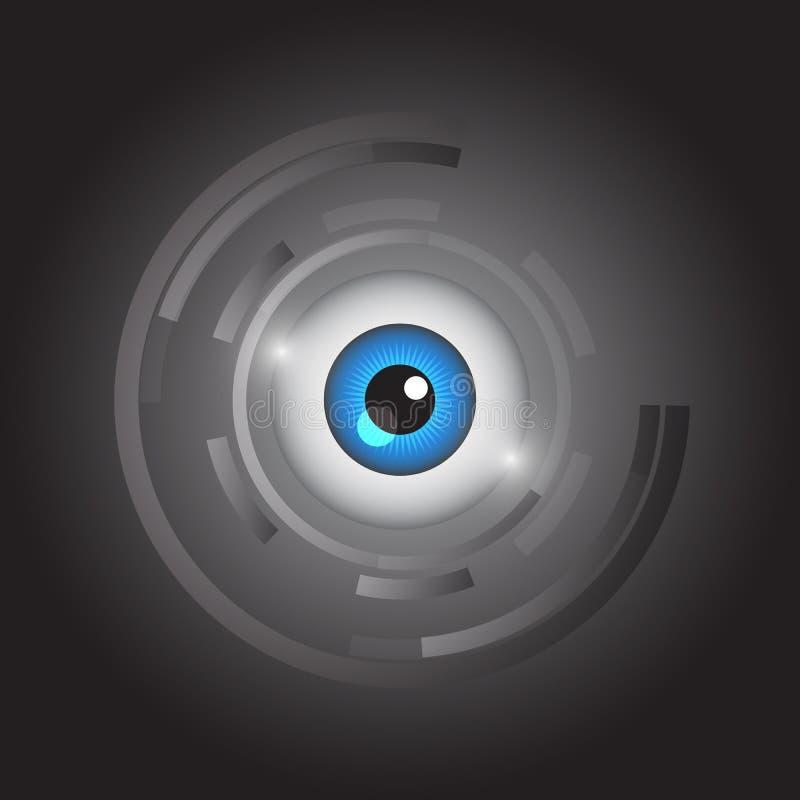 Abstract eye icon vector. General illustration stock illustration
