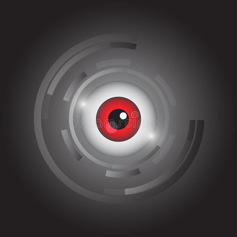 Abstract eye icon vector. Is a general illustration vector illustration