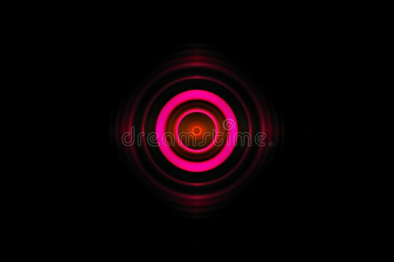 Abstract eye pink light effect with sound waves oscillating background stock illustration