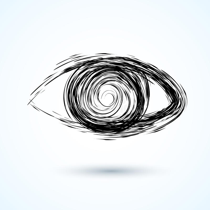 Abstract eye. Sketch royalty free illustration