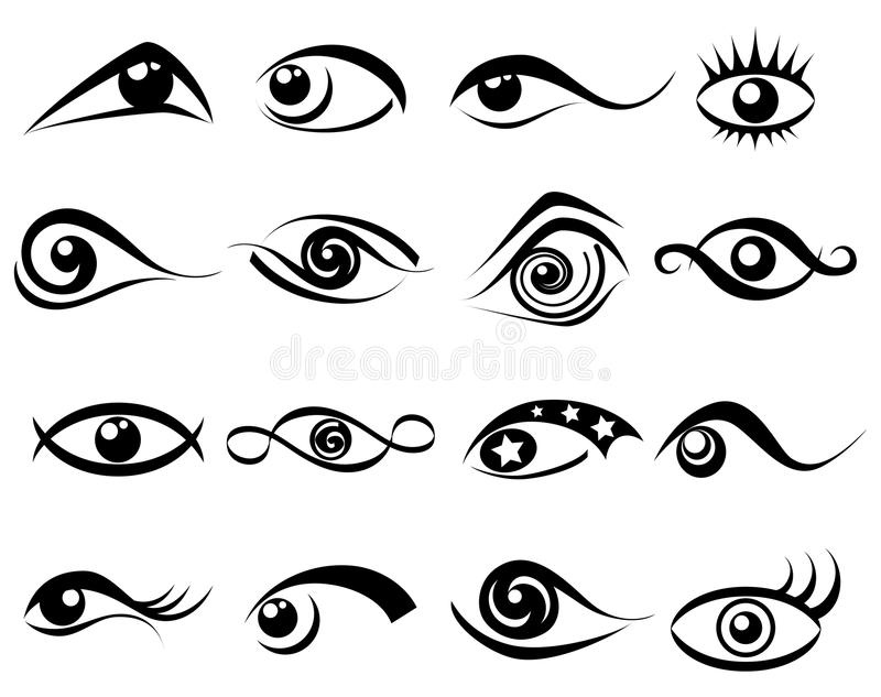 Abstract Eye Symbol Set Stock Vector Illustration Of Female 31103765