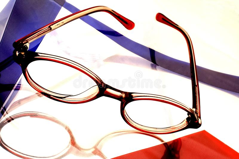 Abstract Eyeglass Background Design Stock Photos