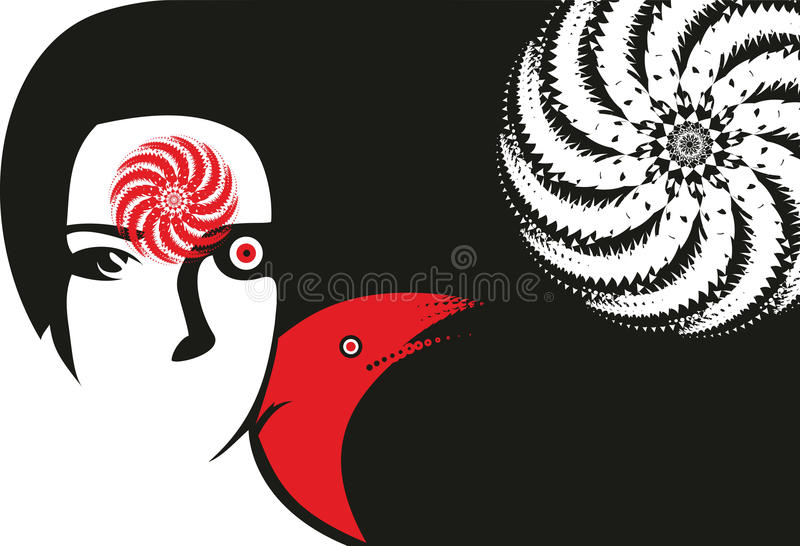 Abstract Face Girl royalty free stock image