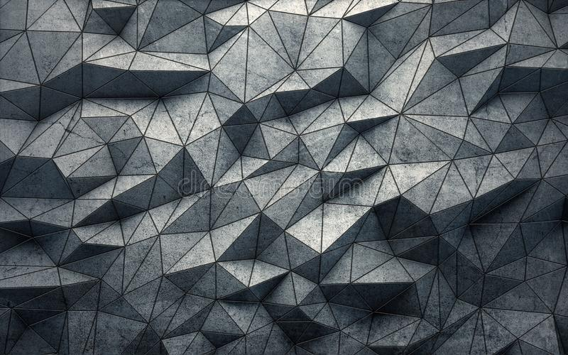 Abstract faceted geometric concrete background. 3d rendering vector illustration