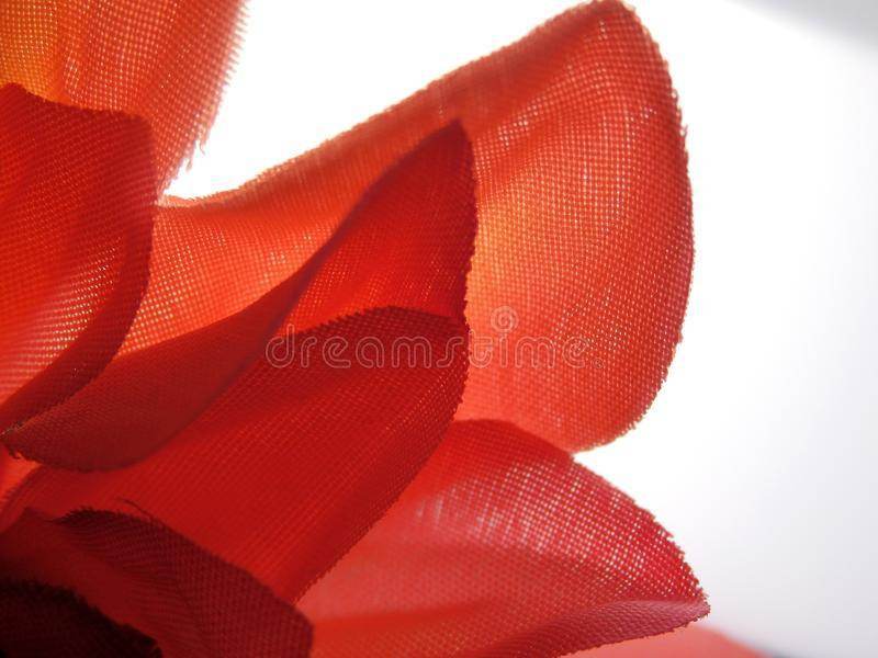 Abstract Fake Fabric Flower Flowers. Adjusted contrast saturation and sharpened royalty free stock photo