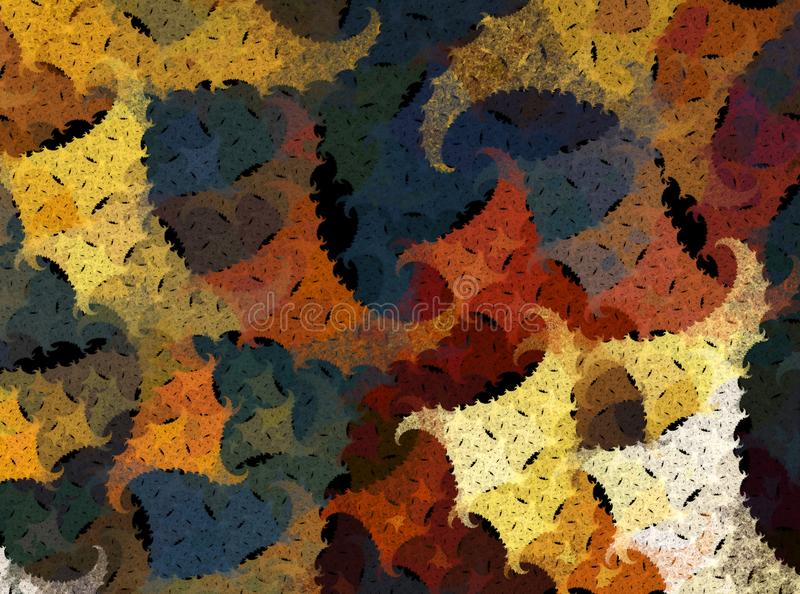 Abstract fall autumn fractal shapes pattern royalty free stock image