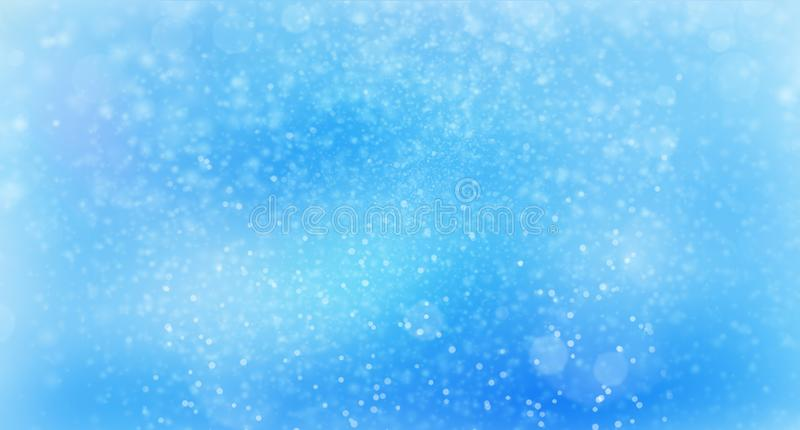 Abstract falling atmospheric snow in dark night, computer generated abstract background, 3D render. Ing stock illustration