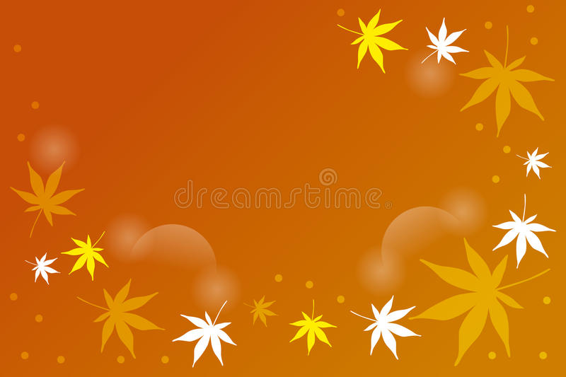 Abstract falling leafs. Background with place for text - illustration vector illustration
