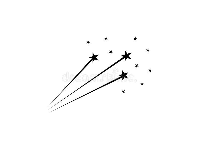 Abstract falling star. simple flat vector illustration stock illustration