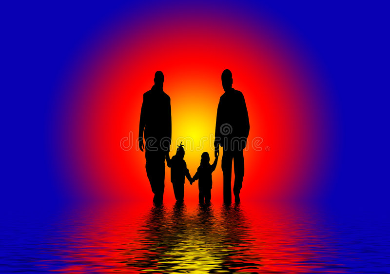 Download Abstract Family stock illustration. Image of children - 4865998