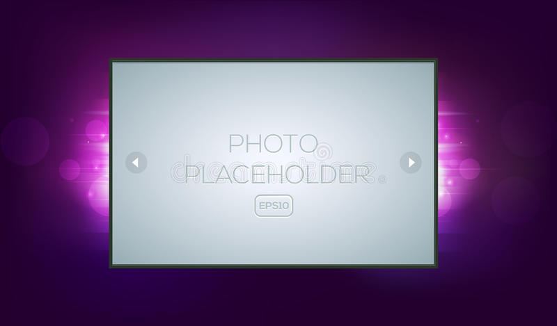 Abstract Fantasy Background With Photo Frame Stock Vector ...