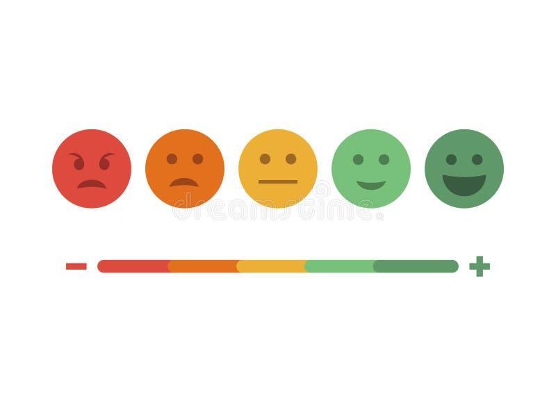 Feedback emoticon flat design icon set stock image