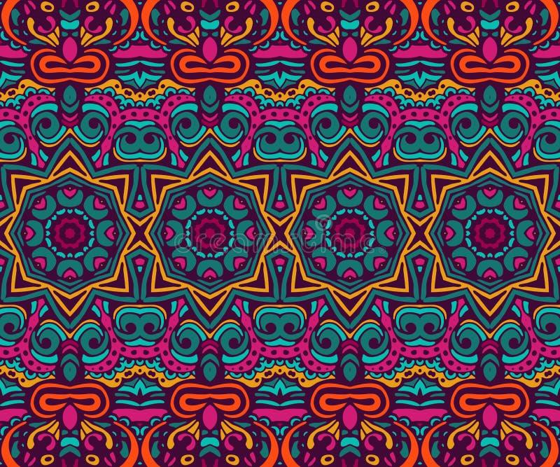 Abstract feestelijk kleurrijk etnisch stammenpatroon royalty-vrije illustratie