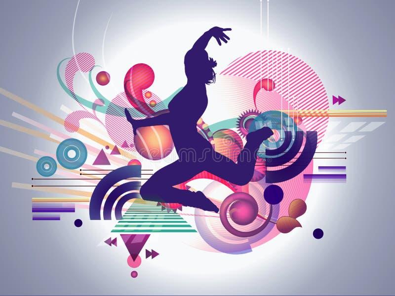 Abstract Female Dancer vector illustration