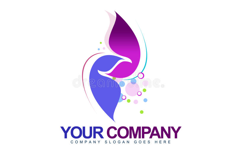 Abstract Feminine Logo stock illustration