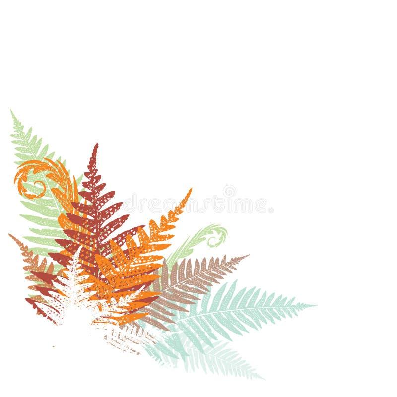 Abstract fern design element