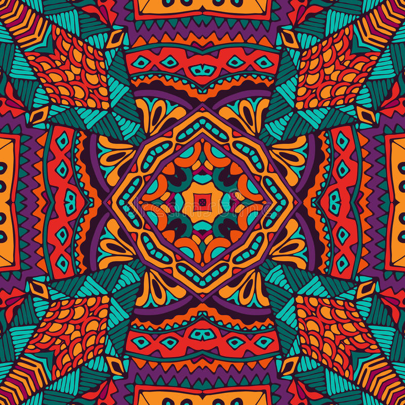 Abstract festival kleurrijk naadloos patroon stock illustratie