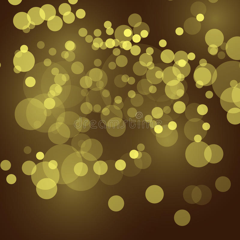 Abstract festive background with bokeh defocused lights, vector illustration. stock illustration