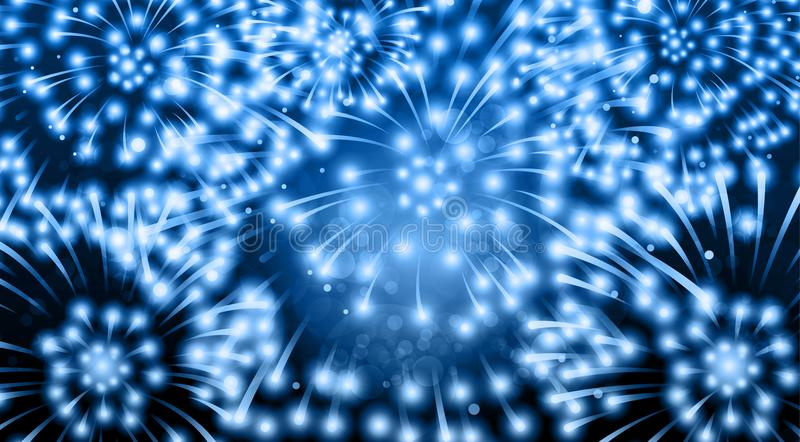 Abstract festive background with fireworks. Vector stock illustration