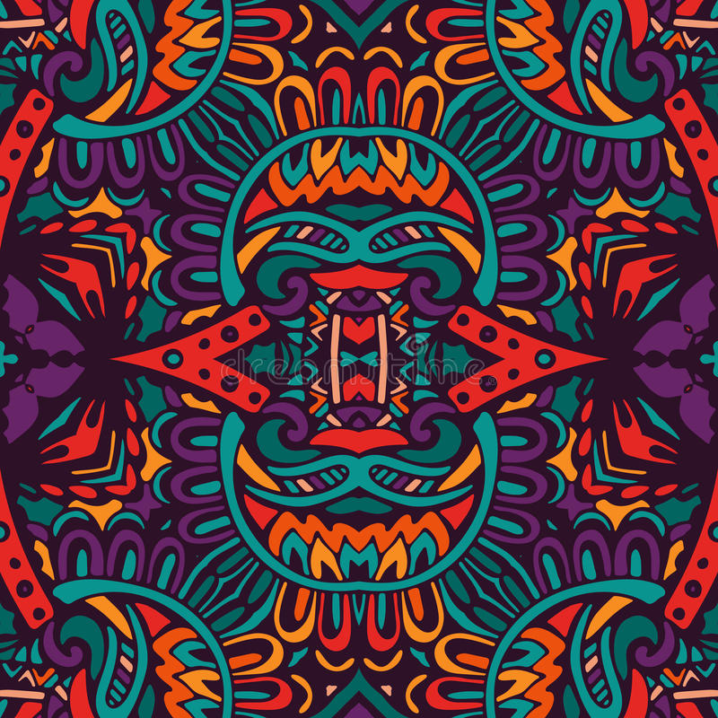 Abstract festive colorful vector ethnic pattern royalty free illustration