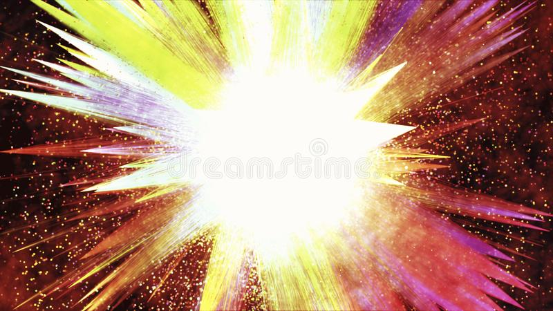 Abstract festive fireworks explosion. Holiday concept background. Abstract festive fireworks explosion.Holiday concept background stock illustration