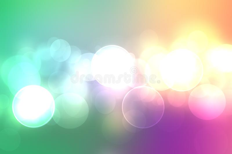 Abstract festive fresh colorful pastel background texture with circular bokeh lights. Beautiful texture for holidays and other vector illustration