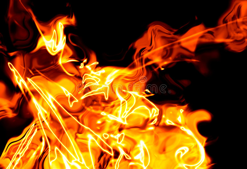 Abstract fier background. Background illustration with hot flames, abstract fire stock illustration
