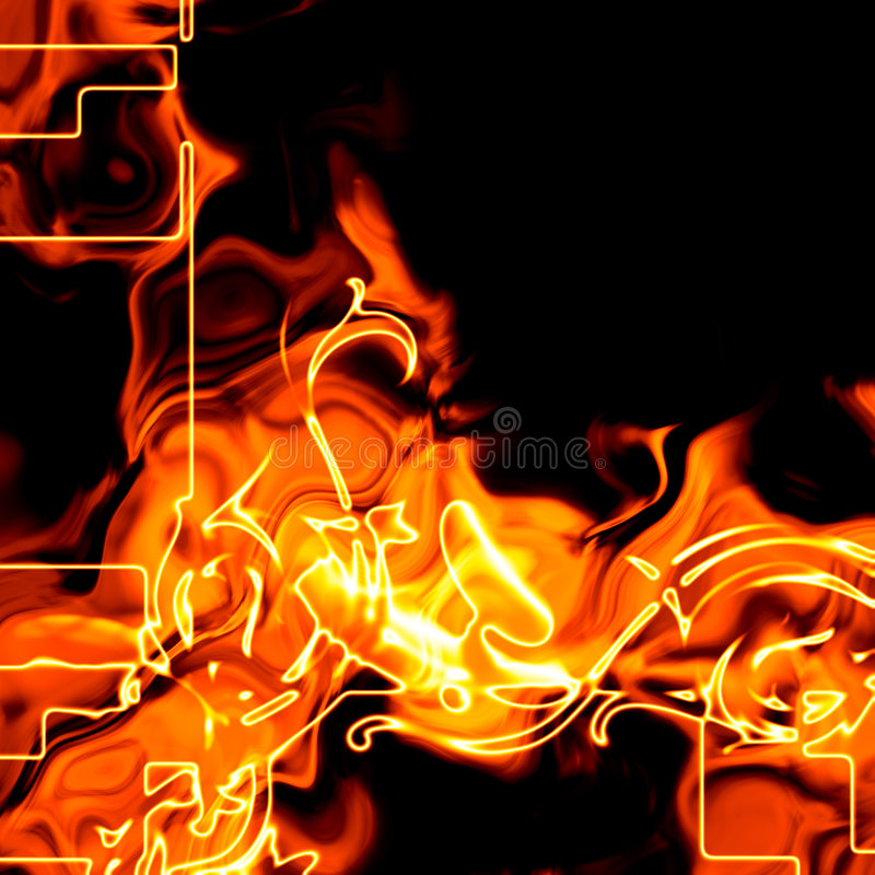 Abstract fiery background vector illustration